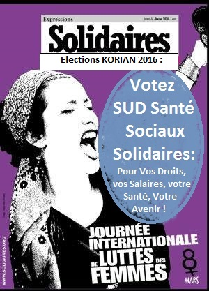 Solidaires - elections Korian