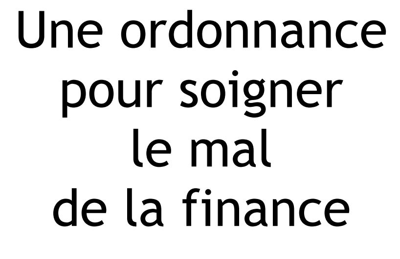 ordonnance finance